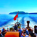Scotland West Highlands Kintyre the paddle steamer Waverley sailig away from the Sanda Isles 24 June 2018 by Anne MacKay by Anne MacKay images of interest & wonder