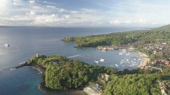 The sun rises over Pedang Bay in Bali this morning