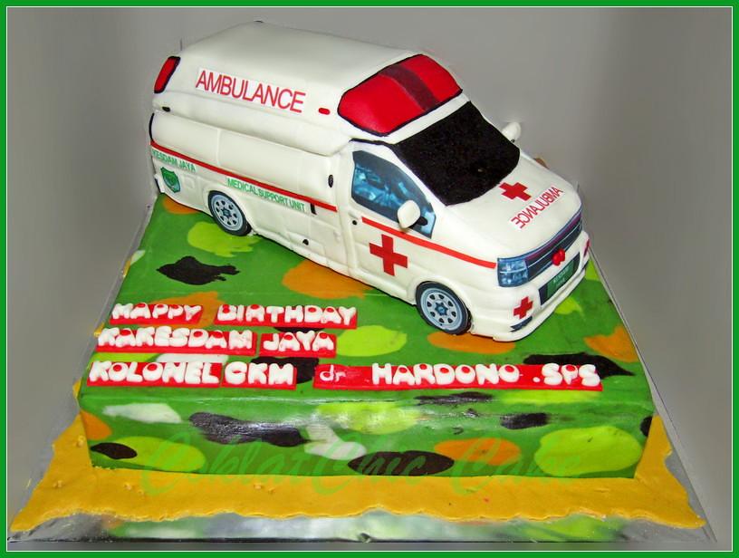Cake Ambulance Tentara Kol dr Hardono SPS 24 cm
