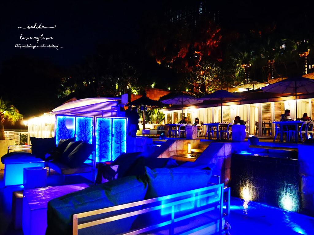 台北陽明山一日遊必吃必玩行程景點推薦THETOP屋頂上好吃景觀餐廳看夜景池畔 (3)