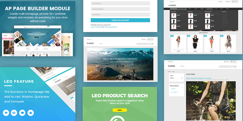 Various Advanced Premium PrestaShop Modules Included - leotheme Framework 4.0 for PrestaShop 1.7