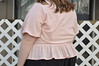 Blush viscose dobby Ruth blouse