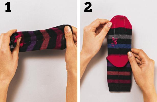 Sock Monster Steps 1 2