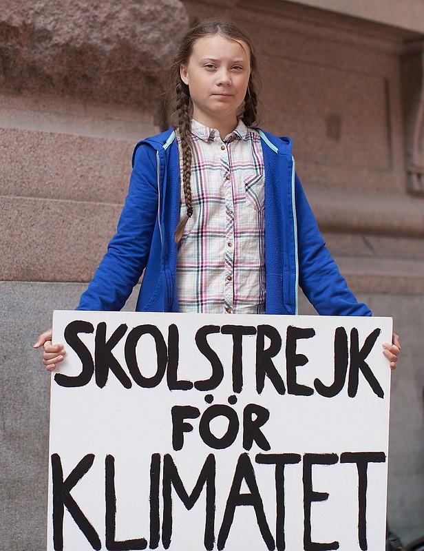 Greta Thunberg。圖片來源:Anders Hellberg/維基百科