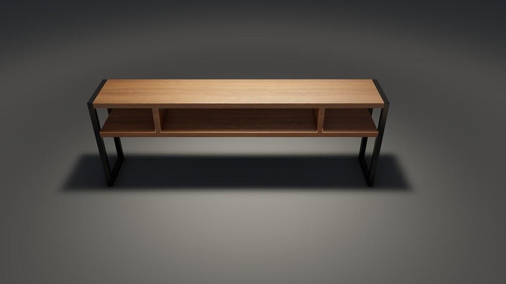 Kệ tivi khung chân sắt mặt gỗ GHZ-733 làm theo yêu cầu đơn giản mà đẹp quá