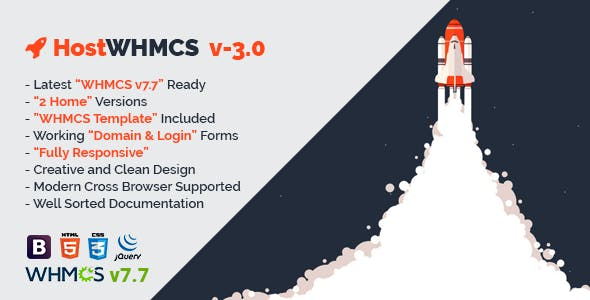 HostWHMCS v3.0 - Responsive Web Hosting with WHMCS Template