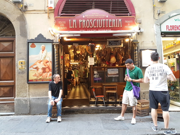 La Prosciutteria Firenze storefront