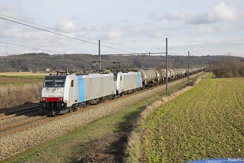 186 259 + 186 492 DB Cargo . E 47068 .  Warsage . 29.01.19.