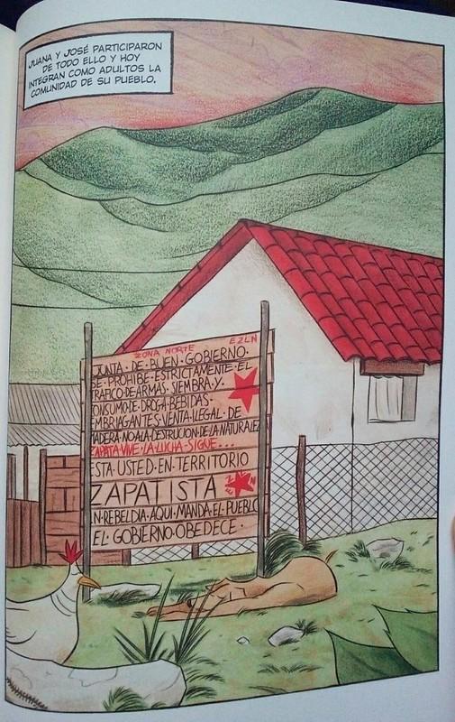 Del color de la tierra. Cómic zapatista de La Oveja Roja
