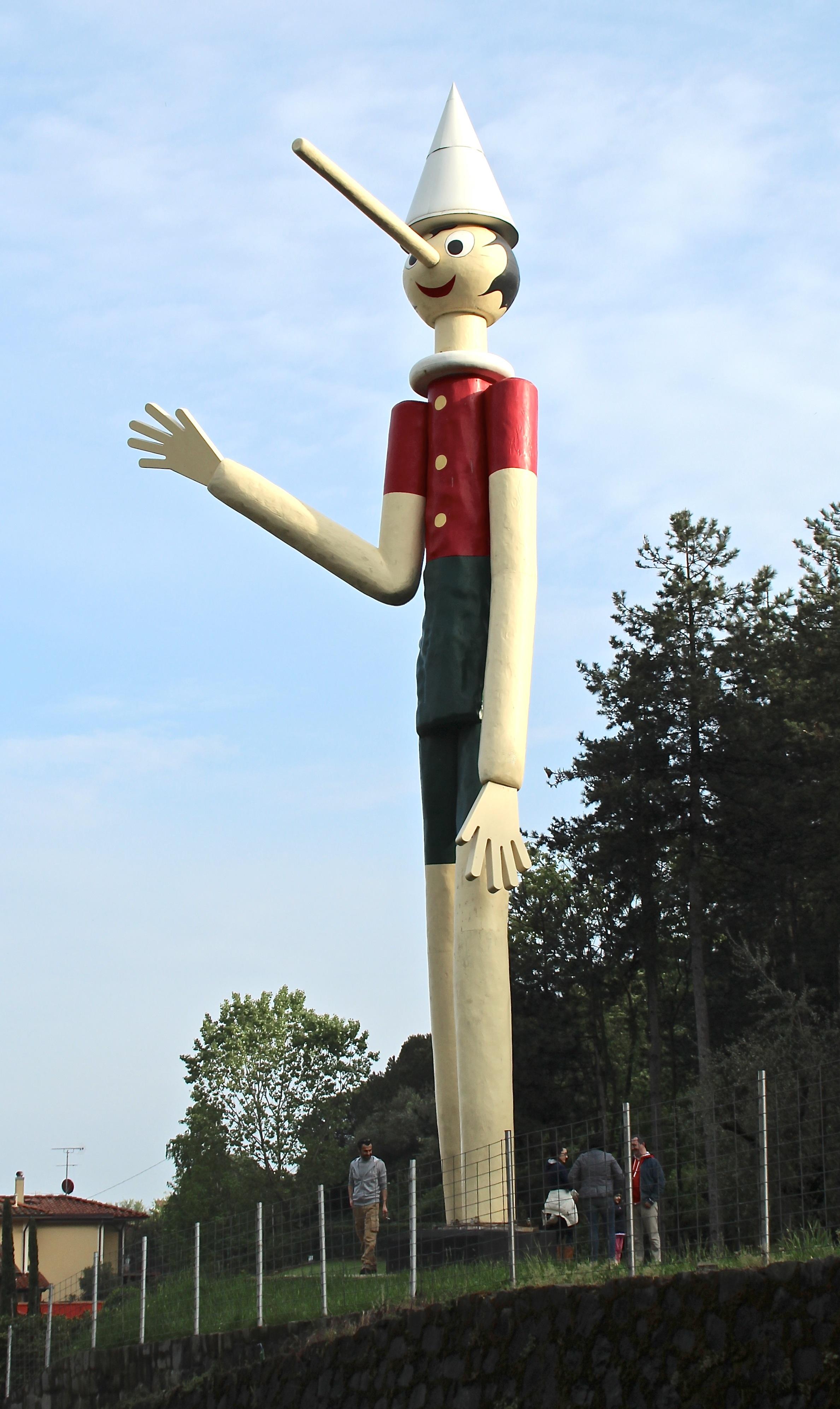A giant statue of Pinocchio in the park Parco di Pinocchio, Collodi