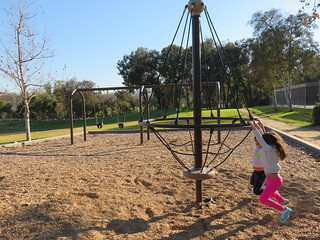 Ernie Howlett Park Kids on Playground Equipment