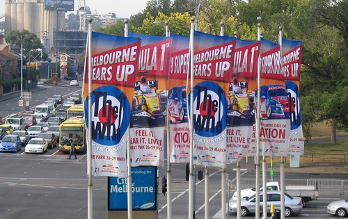 Grand Prix / The Who banners at Swan St/Punt Rd, 27/2/2009 | by Daniel Bowen