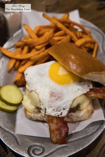 Off Broadway Burger - Over easy egg, Applewood smoked bacon, American cheese