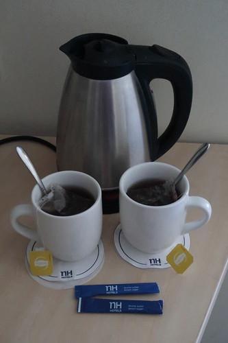 Earl Grey Tee (nachmittags auf unserem Hotelzimmer zubereitet)
