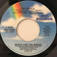 READY FOR THE WORLD:OH SHEILA(LABEL SIDE-A)