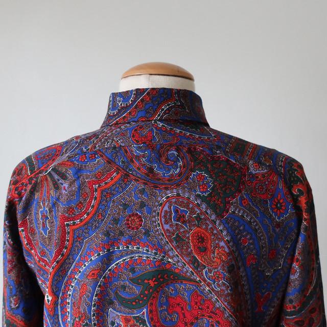 Wool shirt back yoke on form