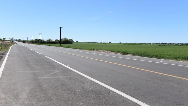 Entrega gobernadora Pavlovich rehabilitación de carretera y vialidades en Huatabampo y Navojoa