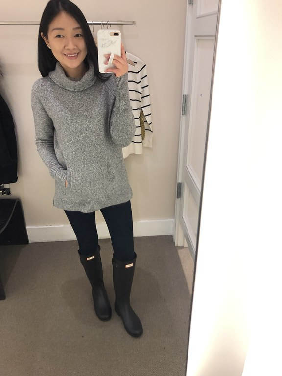 LOFT Turtleneck Pocket Sweater, size XS regular