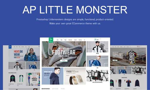 Ap Little Monster Sport Shop Prestashop Fashion Theme - Sports website & equipment