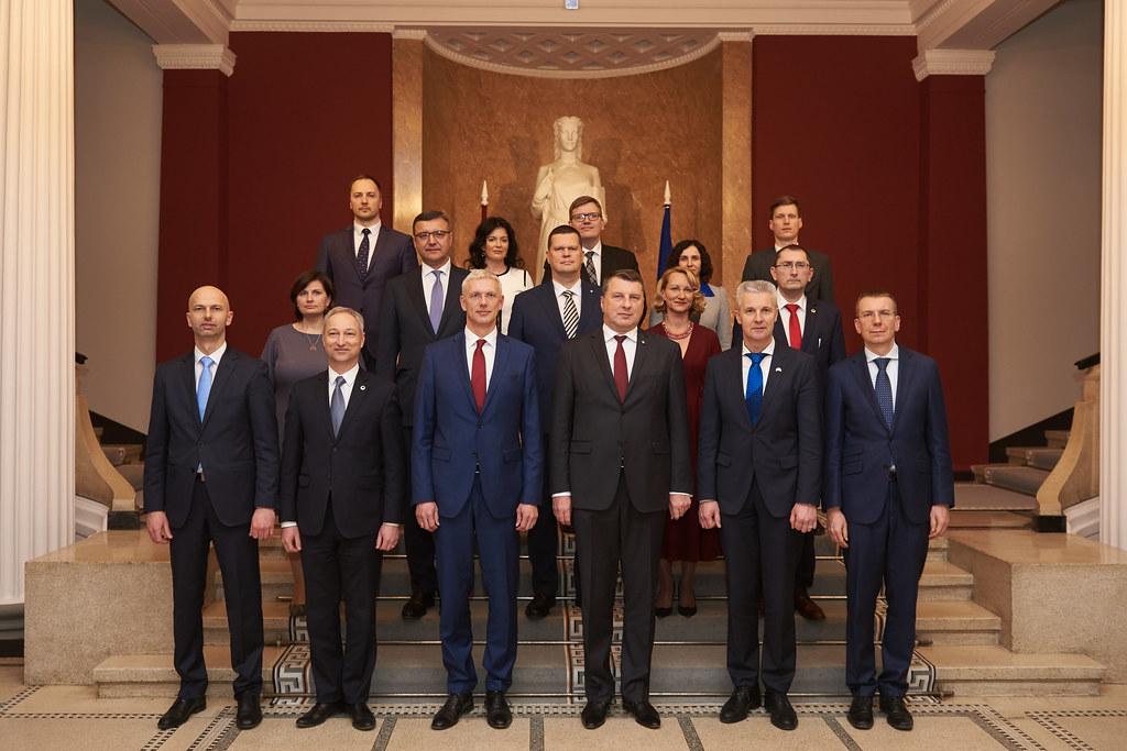 Jaunievēlētā Ministru prezidenta Krišjāņa Kariņa svinīgā pilnvaru nodošanas pasākums Ministru kabinetā