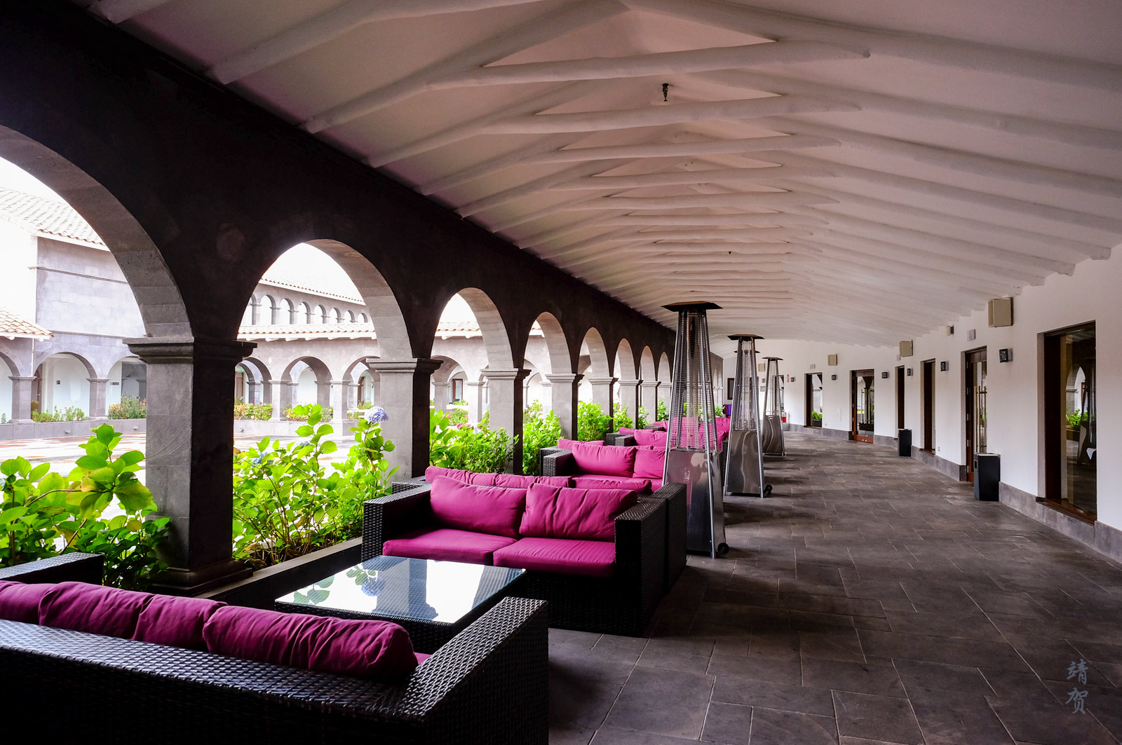 Seating by the courtyard