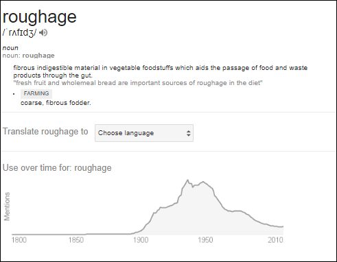 Roughage