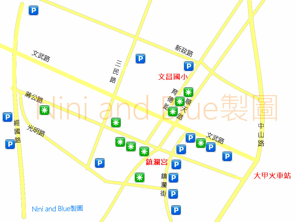 大甲鎮瀾宮美食地圖 停車場