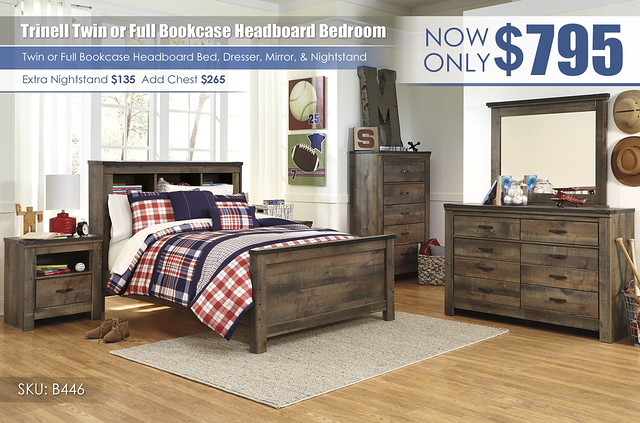 Trinell Bookcase Headboard Special_B446-21-26-46-65-84-86-91