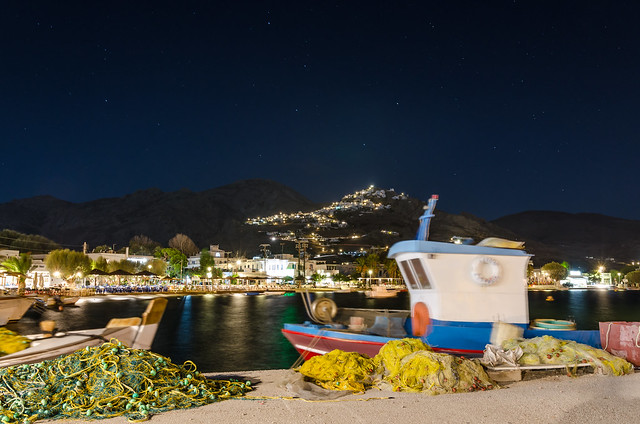 Livadi at night, Serifos, Greece