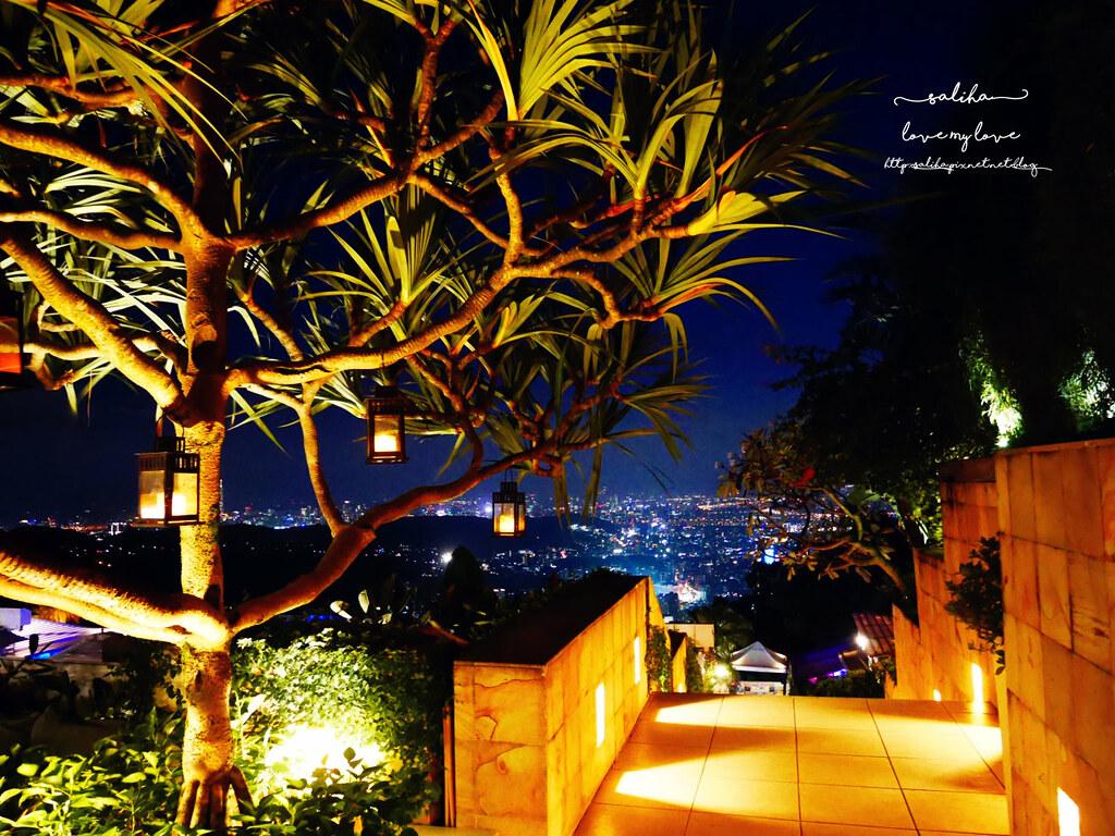 台北陽明山一日遊必吃必玩行程景點推薦THETOP屋頂上好吃景觀餐廳看夜景池畔 (4)