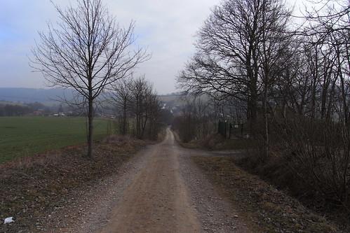 20110323 0210 098 Jakobus Weg Bäume Feld Hügel Ortschaft