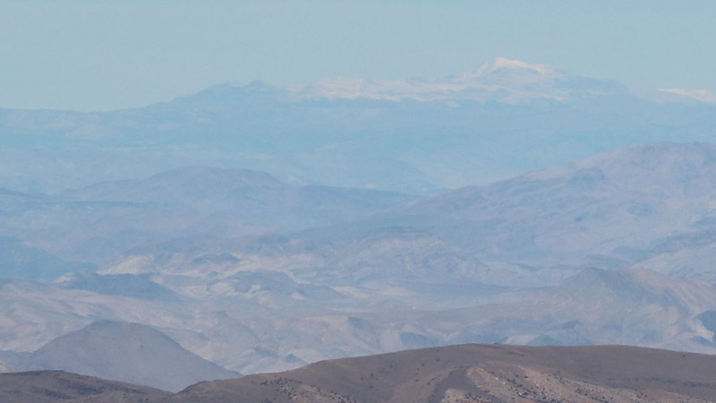 Zoomed-in view of White Mountain Peak from the Telescope Peak Trail - 117 miles away!