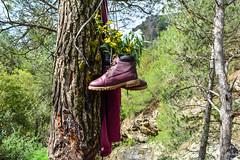 Le repos des chaussures à Zoundaï
