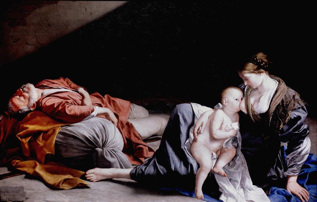 Repos pendant la IMG_4203A Orazio Gentileschi .1563 1639. Italie, France, Londres. Repos pendant la