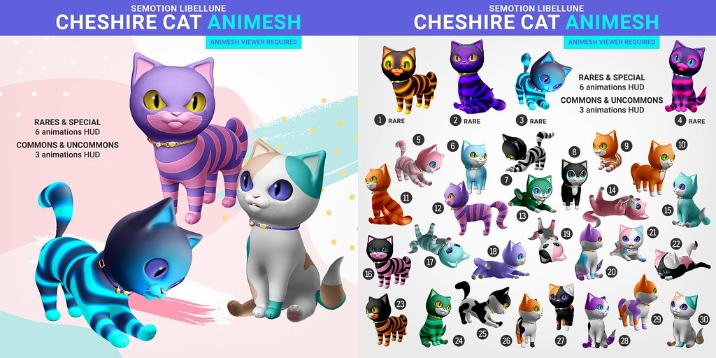 SEmotion x Libellune Cheshire Cats Animesh @ Arcade
