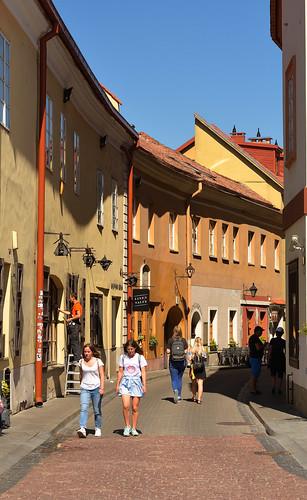 Vilnius / Stikiy g. / Two girls