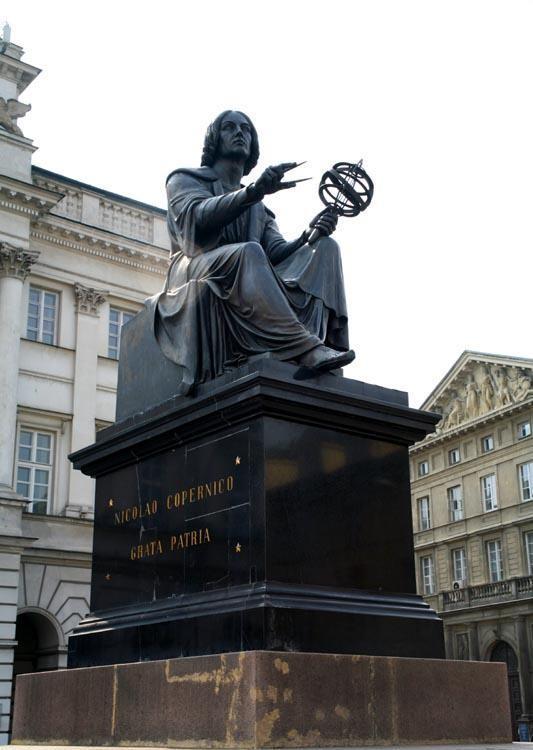 Copernicus Monument in Warsaw designed by the Danish sculptor Bertel Thorvaldsen
