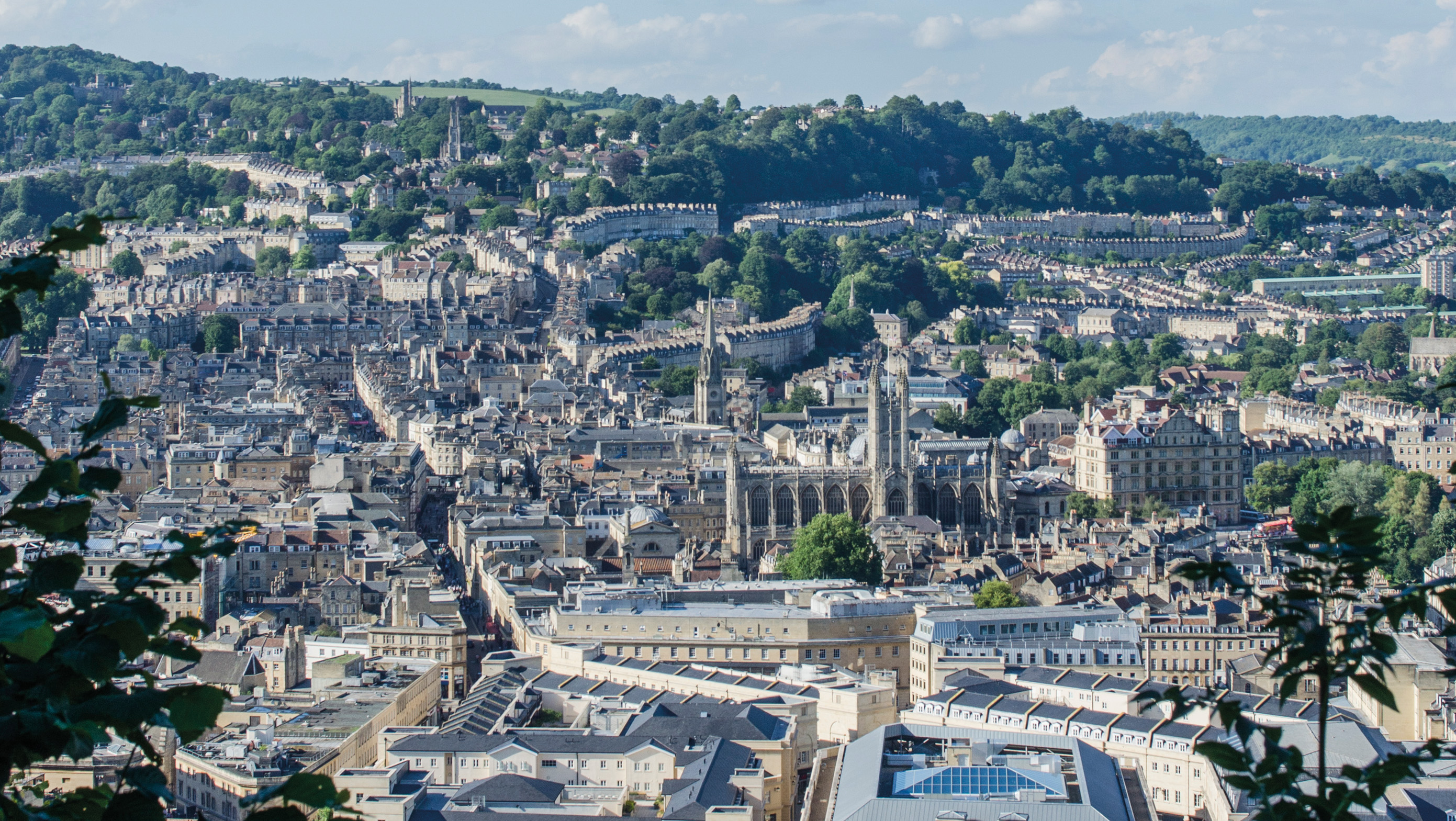 The city of the Bath from a distance
