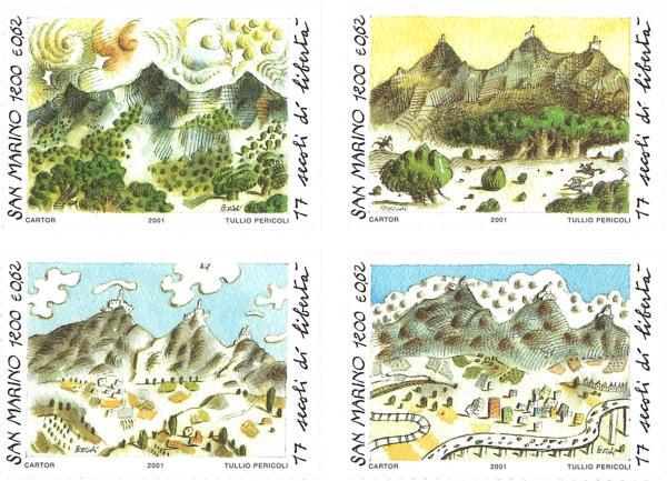 Známky San Marino 2001, 1700 rokov založenia