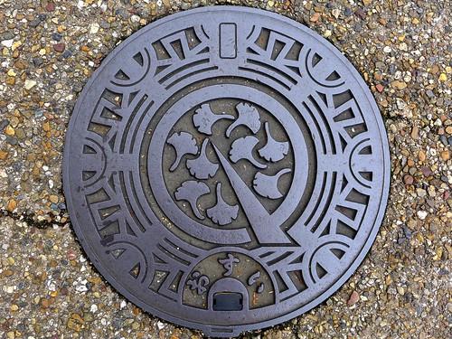 Maibara Shiga, manhole cover 2 (滋賀県米原町のマンホール2)