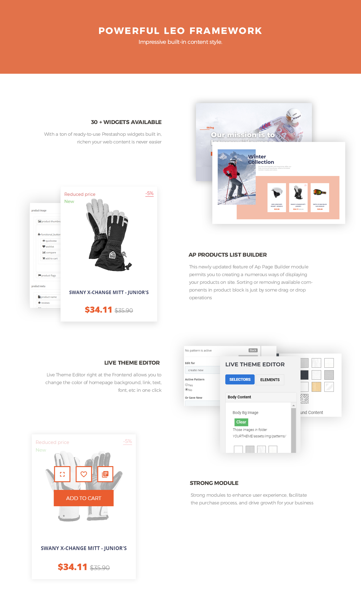 Leo Natur Sport Fashion Prestashop Theme - Powerful Leo Framwork