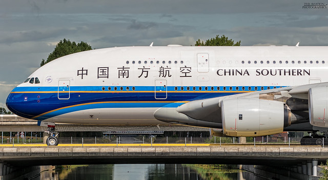 China Southern Airlines Airbus, Nikon D5200, Tamron SP 70-300mm f/4-5.6 Di VC USD (A005)