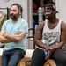 (L-R) Scott Ainslie, Emmanuel Kojo