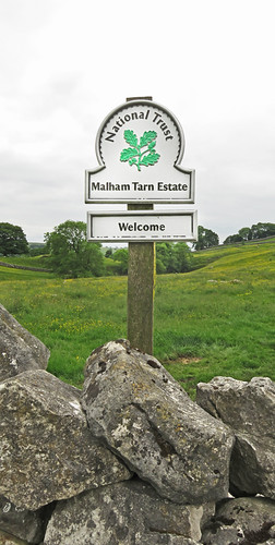 Sign for our Malham walk in the Yorkshire Dales of England