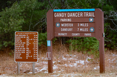 Gandy Dancer Trail Sign - Webster / Danbury, Wisconsin
