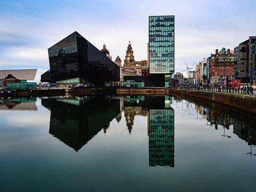 Looking towards Pier Head, Liverpool