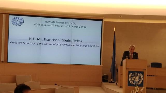 19.02. Secretário Executivo participa no Segmento de Alto Nível da 40ª Sessão do Conselho de Direitos Humanos