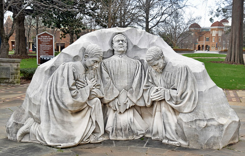 Statue of 'Three Ministers Kneeling' by Raymond Kaskey (1992) -- Kelly Ingram Park Birmingham (AL) February 2019
