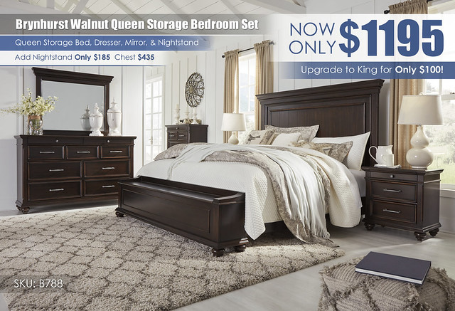 Brynhurst Walnut Queen Storage Bedroom Set_B788-31-36-46-58-56S-97-93