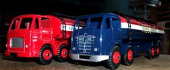 Ledlon89 posted a photo:	Atlas Editions repro Dinky Toys Leyland Octopus Esso and Foden Regent petrol tankers.